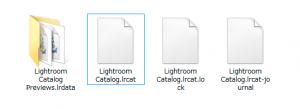 フォルダー内のカタログファイル