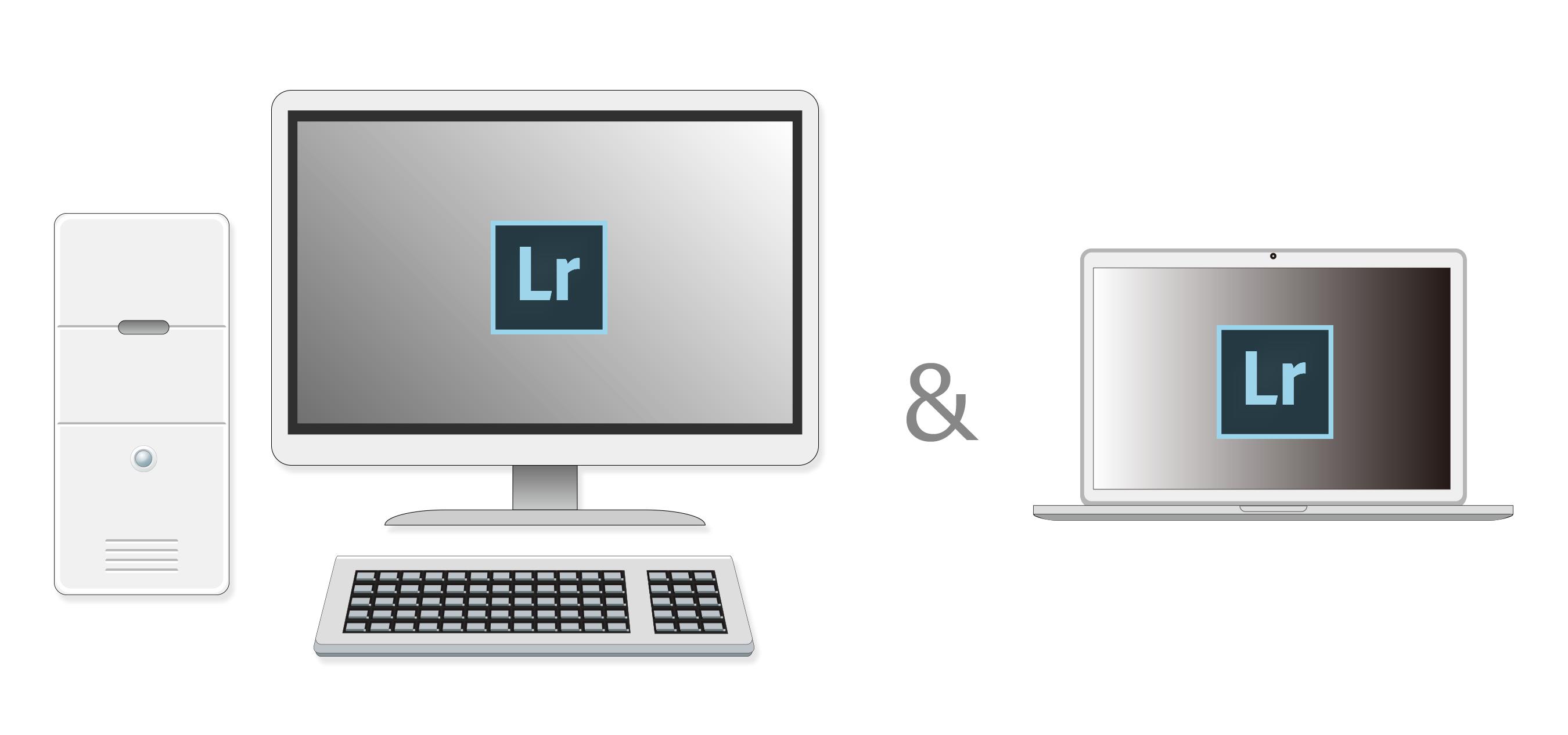 デスクトップパソコンとノートPC