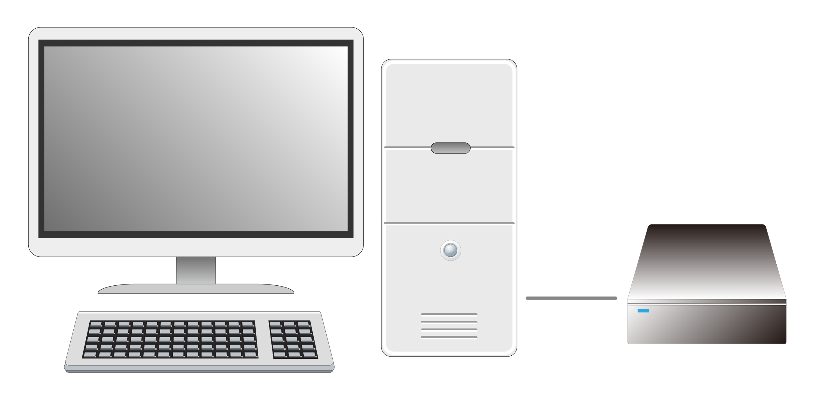 デスクトップパソコン及び外付けHDD