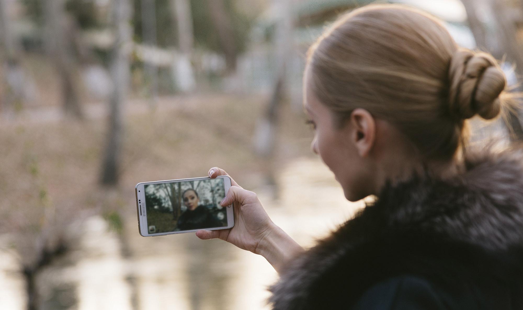 スマートフォンで撮影