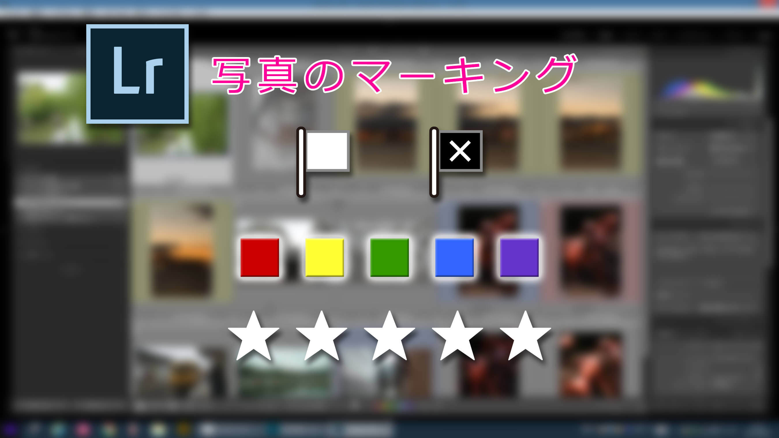 Lightroom: フラグ、星、カラーラベルの使い方