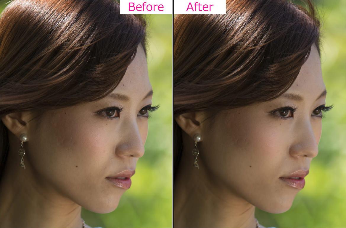 肌修整-Photoshop-Before-After