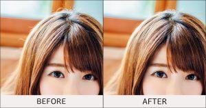解れ毛-before-after