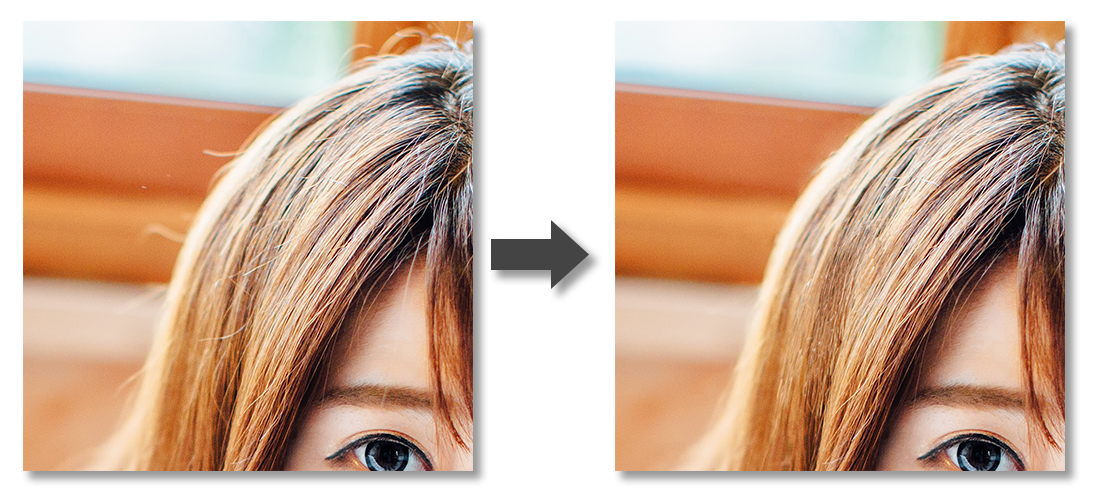 解れ毛2-Before-After