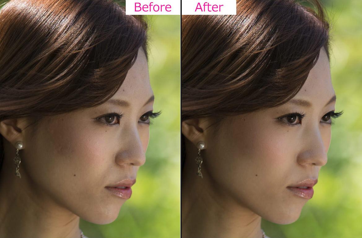 ポートレート補正-Photoshop-Before-After 2