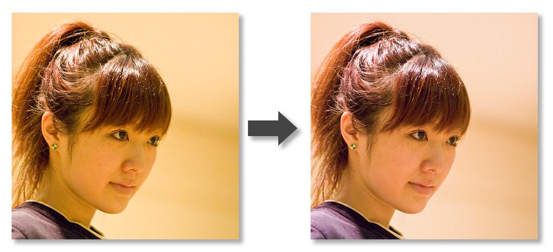 色かぶり補正-Before-After