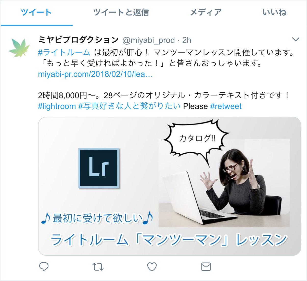 Twitter画面-タイムラインの投稿