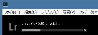 プロファイルを処理しています