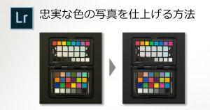 忠実な色の写真を仕上げる方法-OGP