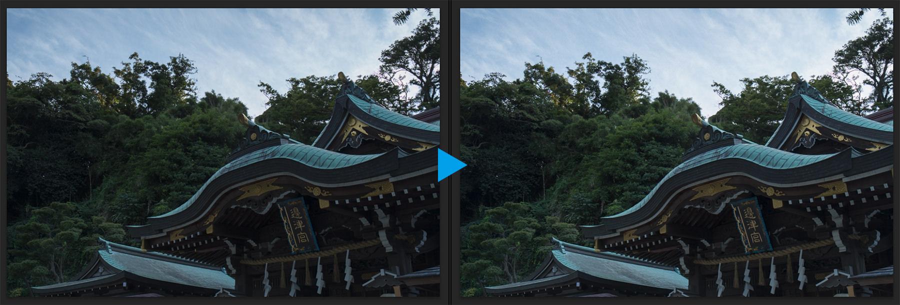 江の島-露光量の調整