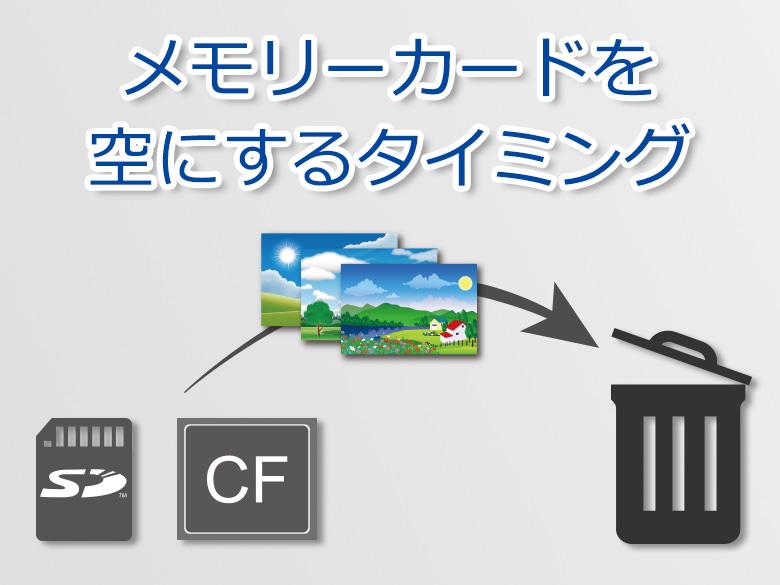 メモリーカードを空にするタイミング