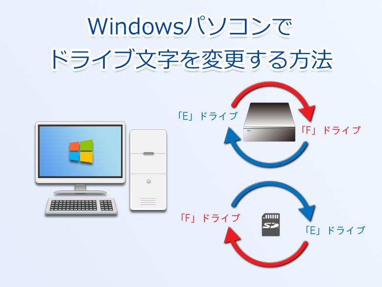Windows~ドライブ文字の変更方法